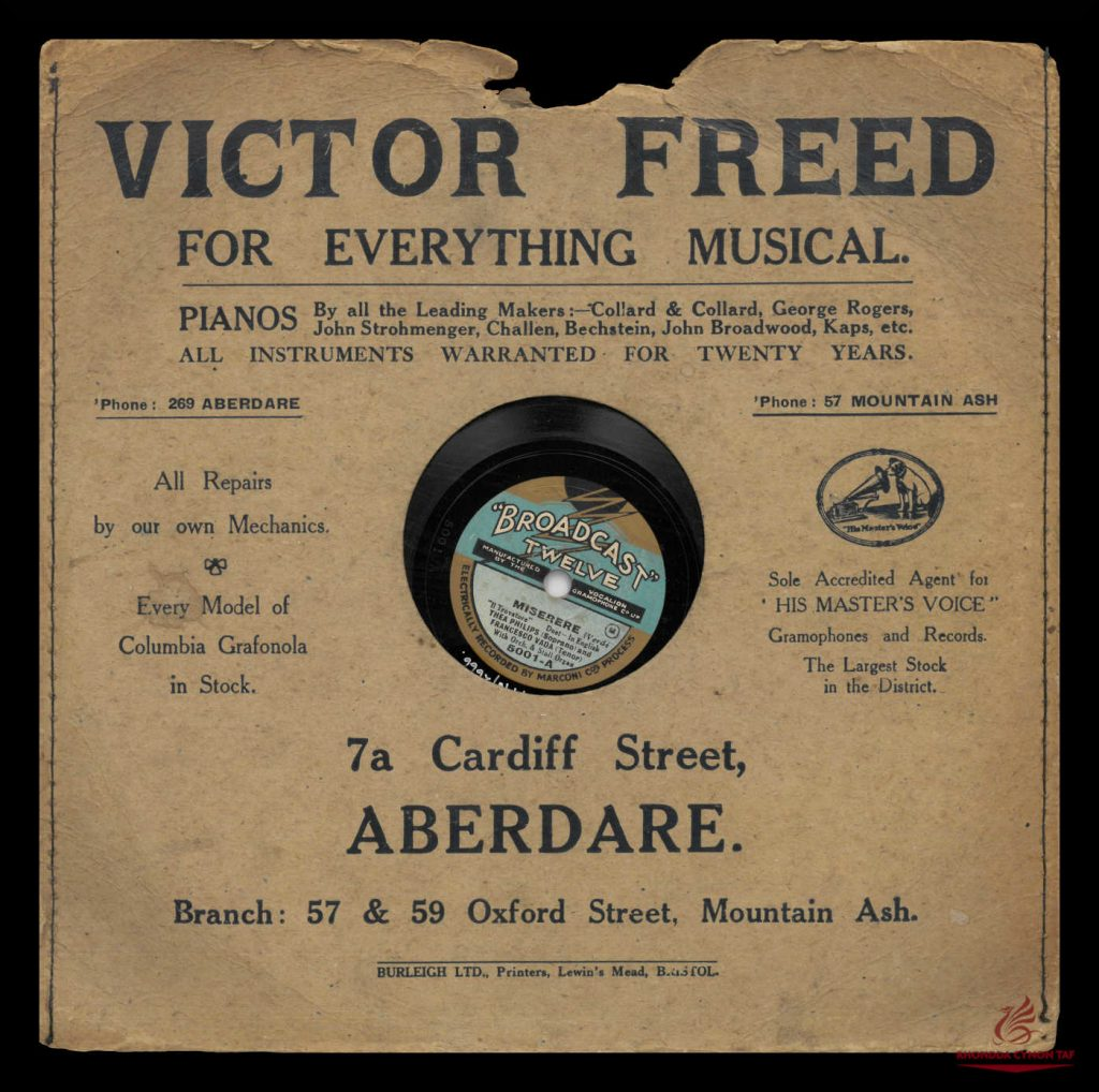 Record Sleeve Sold By Victor Freed