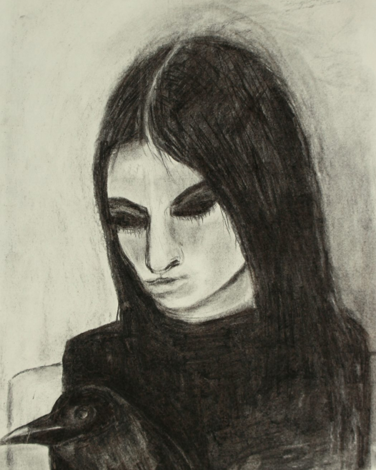 15. Girl with Raven