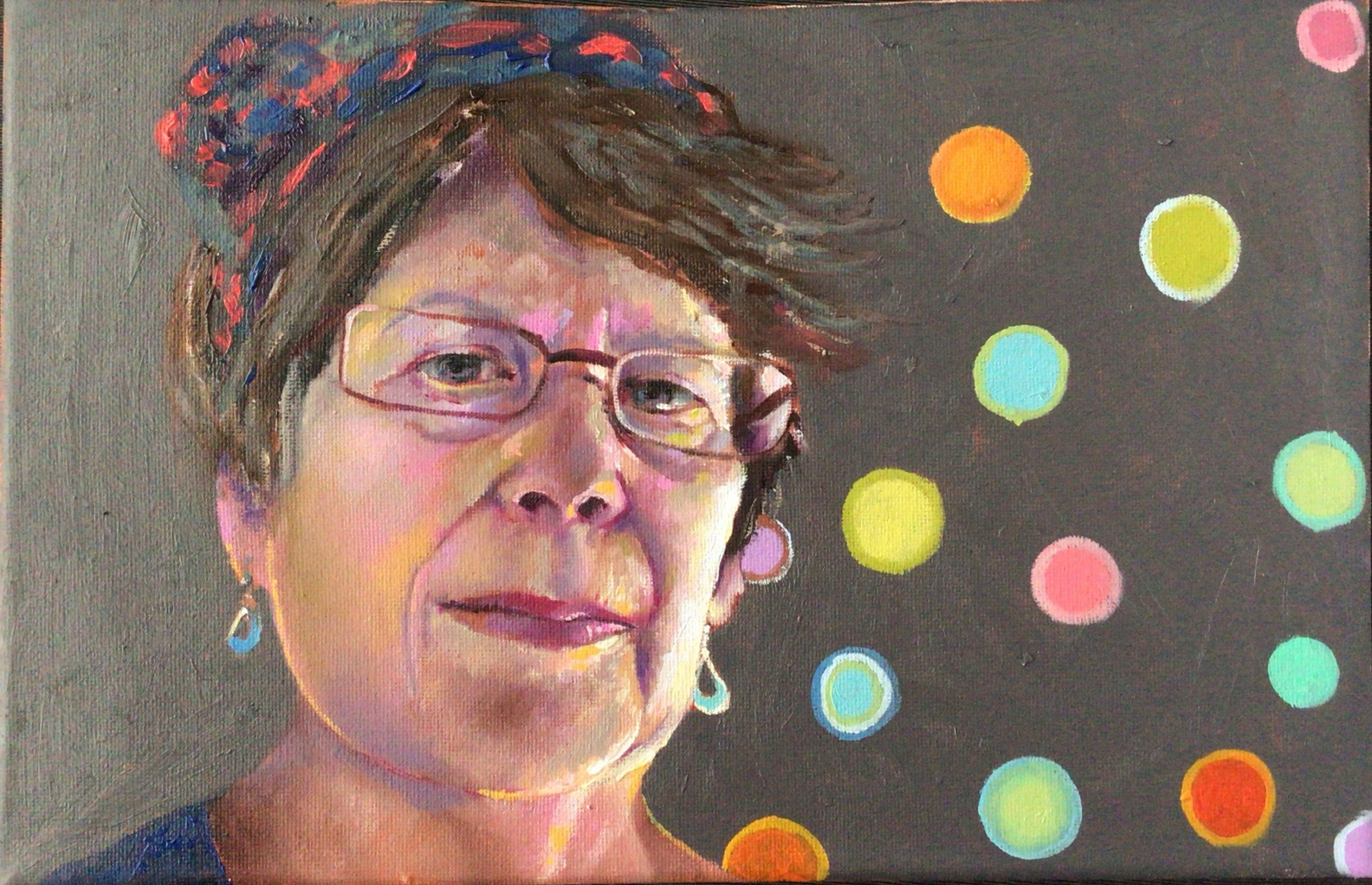 2-judith-beecher-self-portrait-oil-on-canvas-nfs-20-x-30-cms
