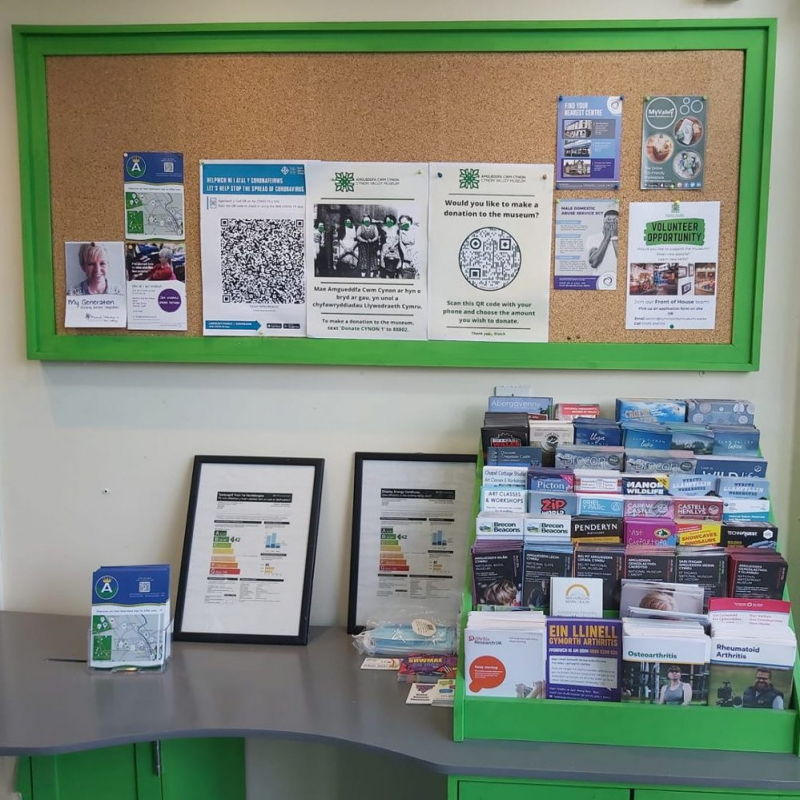 Community notice board and leaflet stand