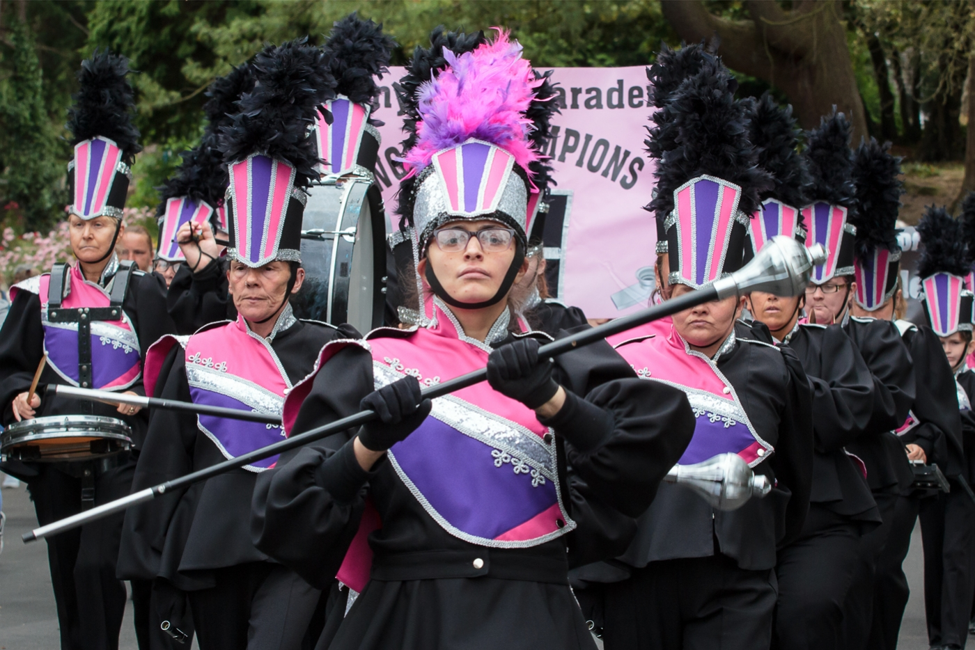 penywaun-paraders-by-lesley-newcombe