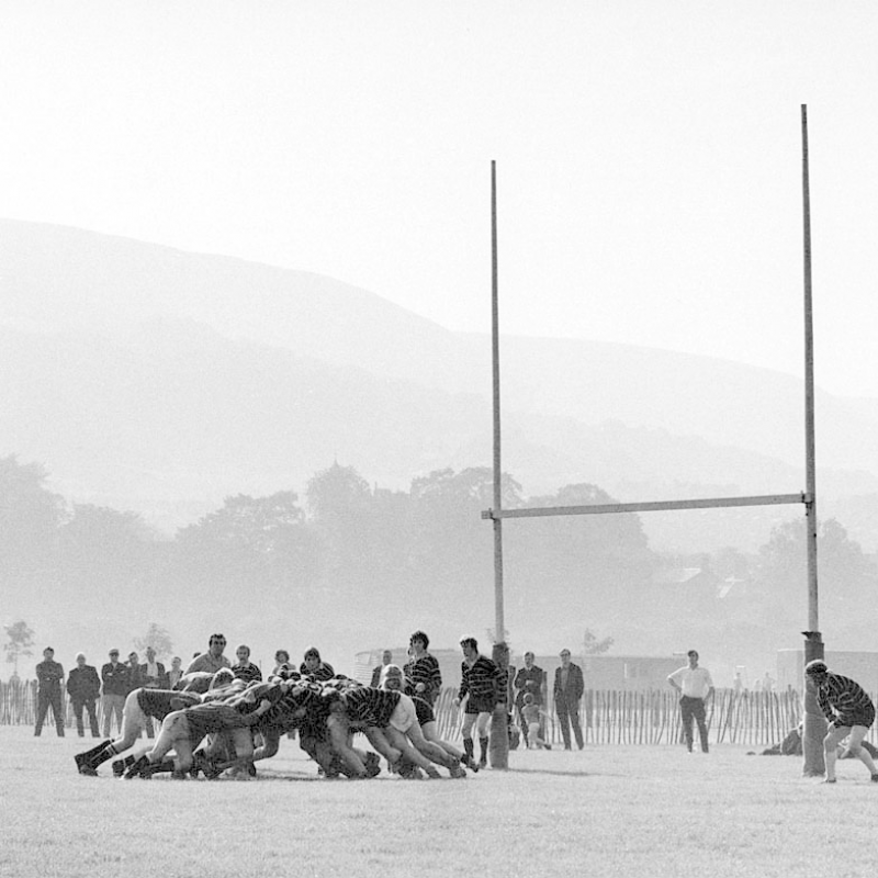 Unknown photogrpaher, Rugby at the Ynys. Exhibition In the Land of Our Fathers