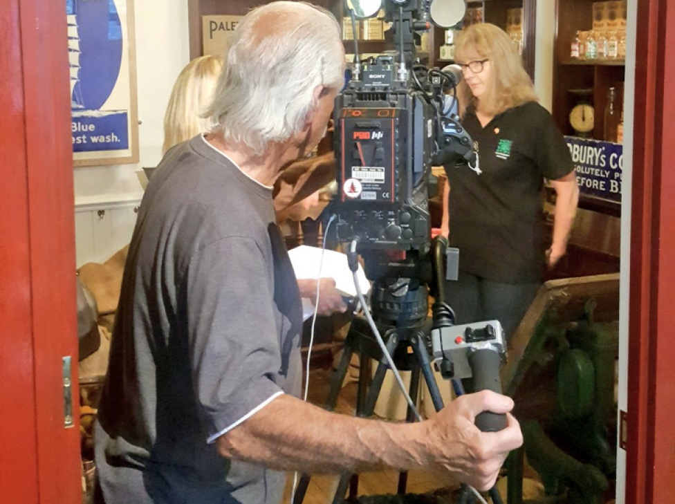 Cynon Valley Museum Volunteer filming for the BBC, 2018